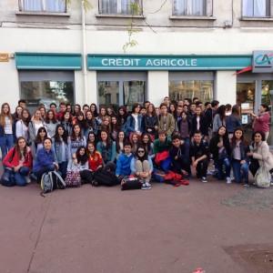 Foto de despedida alumnos con sus correspondants