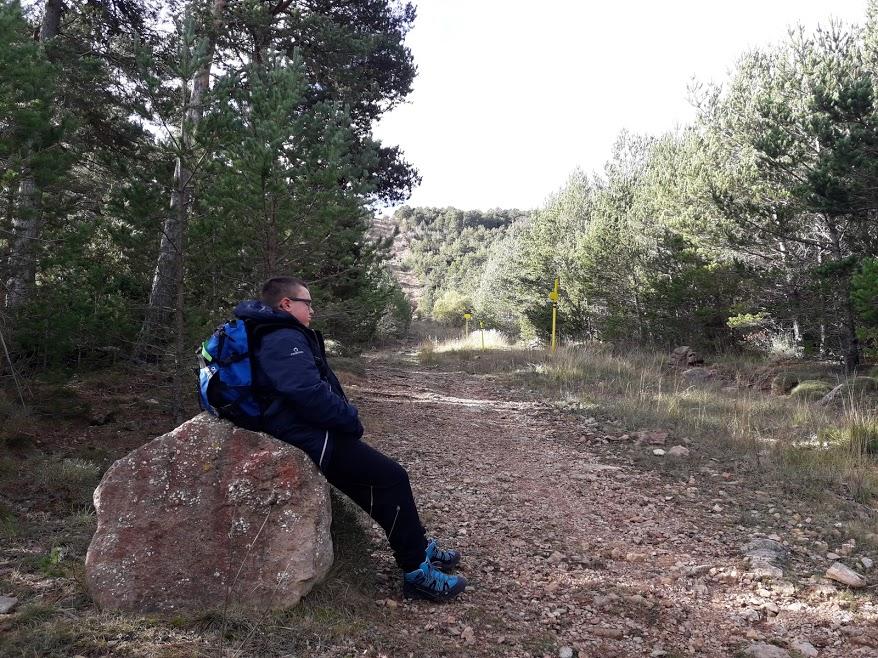 El descanso del montañero