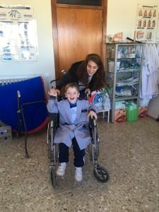 Hemos dado paseo en las sillas de ruedas