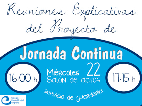 Jornada continua reuniones banner