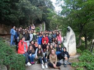 con la estatua de madre paula camino de la cruz 2